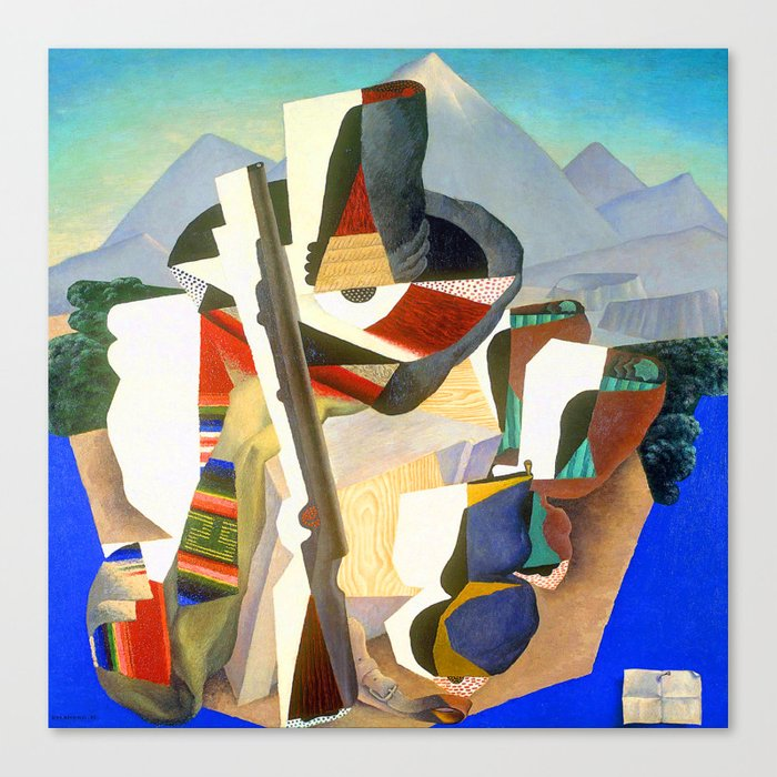 Diego Rivera Zapata Style Landscape Leinwanddruck