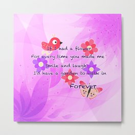 Lovely Friendship Love Quote Metal Print