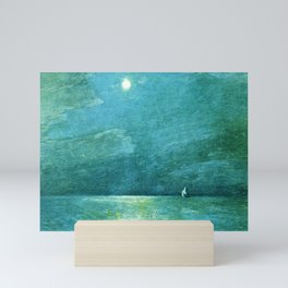 Classical Masterpiece 'Moonlight on the Sound' by Frederick Childe Hassam Mini Art Print