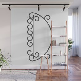 """Letter """"D"""" in beautiful design Fashion Modern Style Wall Mural"""