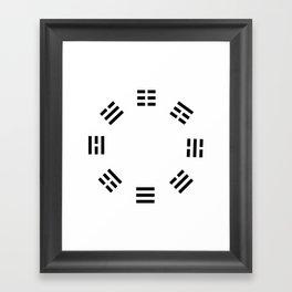 I Ching Clock Framed Art Print