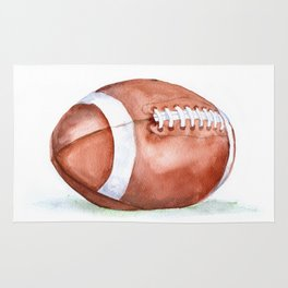 Football Watercolor Rug
