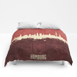 Hamburg Germany Skyline Comforters