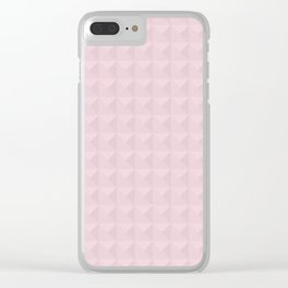 Light pink simple geometric Clear iPhone Case