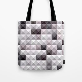 Davy Gray Abstract Low Polygon Background Tote Bag