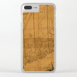 Map of Maine 1802 Clear iPhone Case