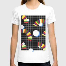 Memphis Grid & Rainbows T-shirt