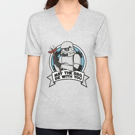 May the BBQ be with you Unisex V-Neck