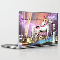 "seinfeld Laptop & iPad Skins featuring ""It's Not A Lie If You Believe It"" by Lauren Little"