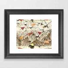 Peeling Pyrenees Paper Planes Framed Art Print