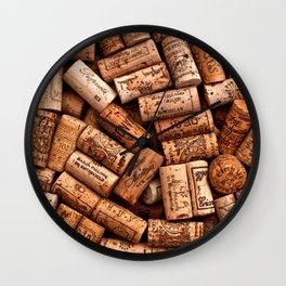 Corks,wine corks Wall Clock