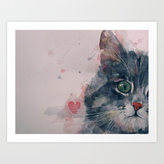 And I Love Her Art Print