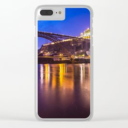 Porto at night Portugal Clear iPhone Case