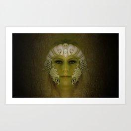 Goddess in Marble Art Print