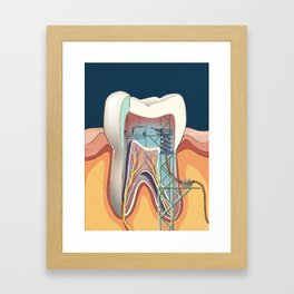Homo Machina | Teeth cleaning Framed Art Print