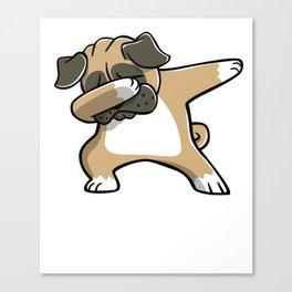 Funny Dabbing Pug Dog Dab Dance Canvas Print