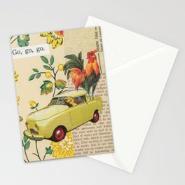 Go, Go, Go - Vintage Collage Stationery Cards