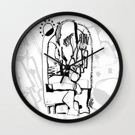 Freezing in Sunlight - b&w Wall Clock