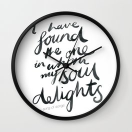 My Soul Delights. Wall Clock