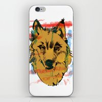 howl iPhone & iPod Skins featuring HOWL by Galvanise The Dog