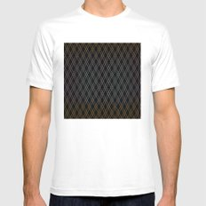Black Diamonds. MEDIUM Mens Fitted Tee White