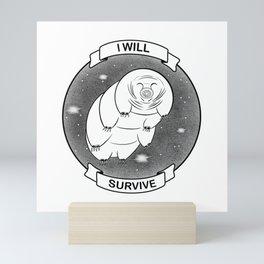Tardigrade - funny science - science art Mini Art Print