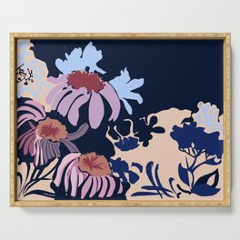 Flowers bright Serving Tray