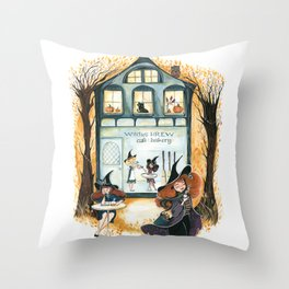 Witches Brew Throw Pillow