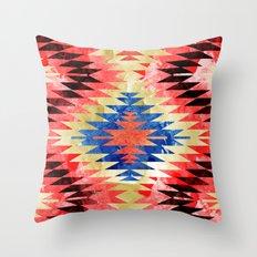 Painted Navajo Suns Throw Pillow