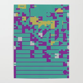 Abstract 8 Bit Art Poster
