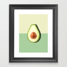 Avocado Half Slice Framed Art Print