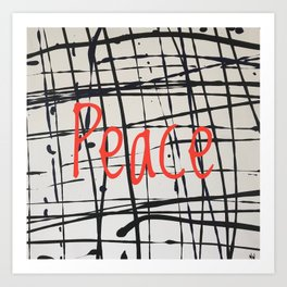 Best foot forward - Peace Art Print