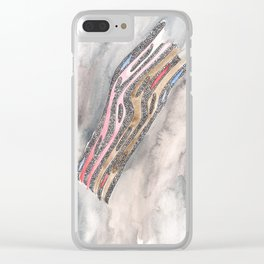 180311 Watercolour Micron 8 Clear iPhone Case