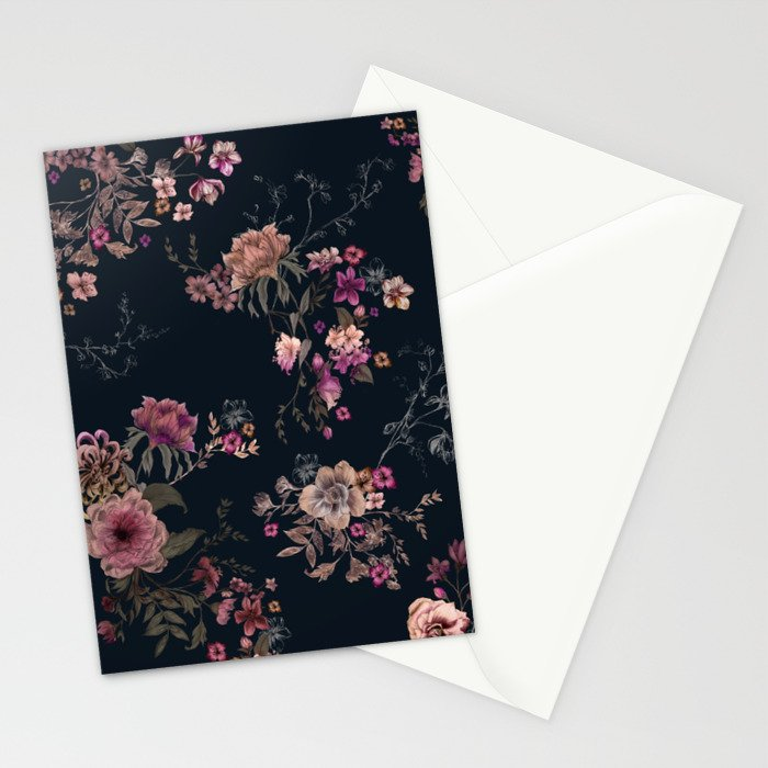 Japanese Boho Floral Stationery Cards