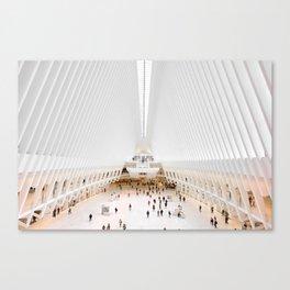 The Oculus at the World Trade Center | Calatrava #architecture #society6 Canvas Print