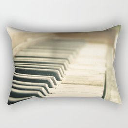Tickling The Ivories Abandoned Piano Urban Exploration, Urbex, Music, Musical Instrument Rectangular Pillow