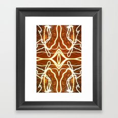 Night Lights Long Exposure Fractal Framed Art Print
