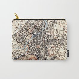 Vintage Map of Paterson NJ (1897) Carry-All Pouch