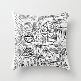 Sketch Book Throw Pillow