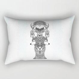 Indian Totem Rectangular Pillow