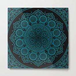 East Blue Mandala Metal Print