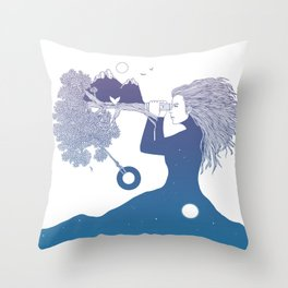 Watching the World I Once Knew (The Night Sky's Point of View) Throw Pillow