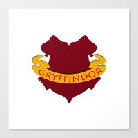 gryffindor Canvas Prints featuring Gryffindor by konchoo