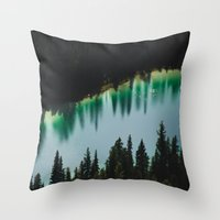 allyson johnson Throw Pillows featuring Johnson Lake by SachelleJuliaPhotography