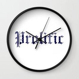 PROLIFIC Wall Clock