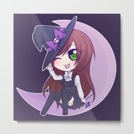 Ami: Chibi Witch Metal Print