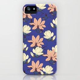 Magnolia Blossoms Pink Purple White  iPhone Case