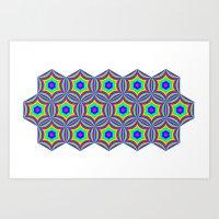 """Rainbow Circles"" Art Print"