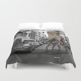 Unseen Monsters of Melbourne - Wabi Goons Milky Duvet Cover