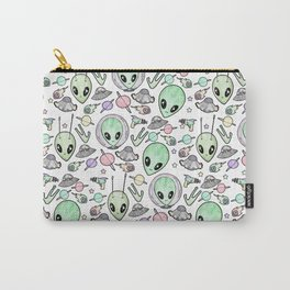 Alien and UFO pattern Carry-All Pouch